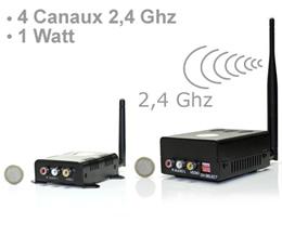 kit metteur r cepteur 4 canaux audio vid o 2 4 ghz 1 w. Black Bedroom Furniture Sets. Home Design Ideas