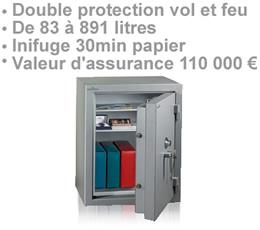 COFFRE-FORT-ZD4 - Coffre-fort ZD4 double protection vol et feu