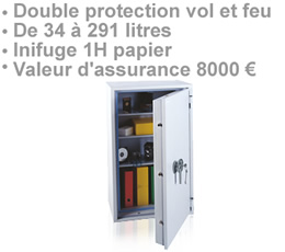 bruitage zapping - COFFRE-FORT-8000 - Safe box 8000  double protection vol et feu