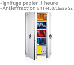 protection publicité internet , ARMOIRE-PF - Armoire ignifuge papier 1 heure et anti-effraction