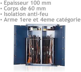 antenne lte - COFFRE-FORT-600 - Coffre-fort pour armes très haute sécurité