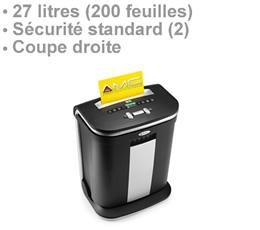pub sur chrome | RSS1627 - Destructeur de document 27 litres niveau de sécurité standard DIN 2