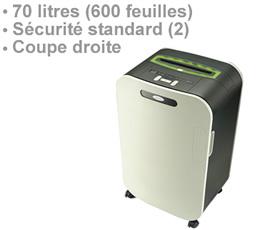 portable prix , RDS2270 - Destructeur de document 70 litres niveau de sécurité standard DIN 2