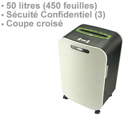 brouilleur de frequence radio | RDX1750 - Destructeur de document 50 litres niveau de sécurité confidentiel DIN 3