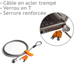 gamme htc - MICROSAVER-NOTEBOOK-LOCK - Câble antivol Mivrosaver Notebook Lock