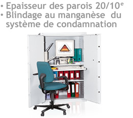 brouilleur dalarme , ARMOIRE-PP800 - Amoire forte blindage au manganèse 830 litres