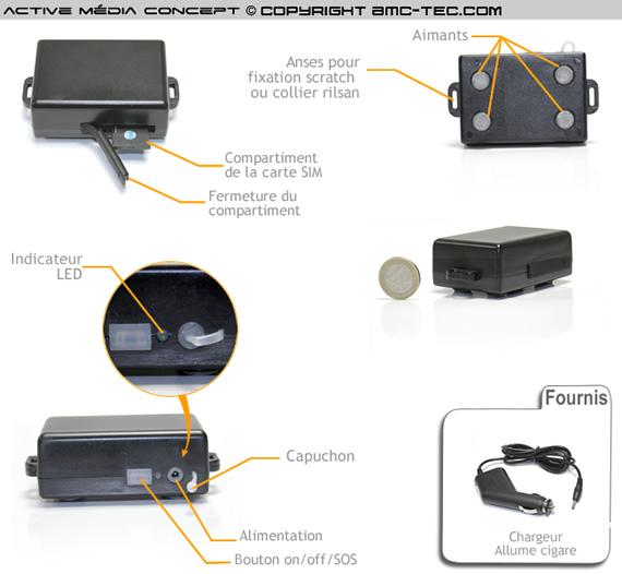 traceur gps gsm temps r el waterproof longue autonomie aimant. Black Bedroom Furniture Sets. Home Design Ideas