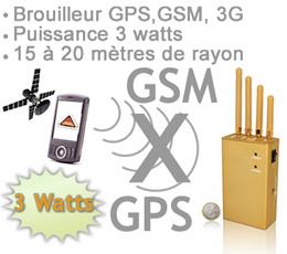BR-GPS-3G-GSM - Brouilleur GPS - GSM et 3G de 3 watts portable autonome
