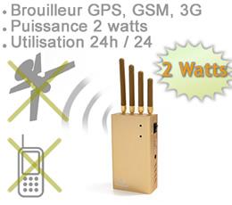 brouilleur 6 antennes | BRV-GPS-3G-GSM - Brouilleur portable ventilé GPS GSM et 3G de 2 watts autonome