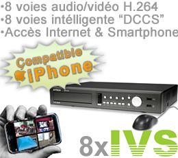 ivs 746 enregistreur vid o surveillance intelligent 8 canaux ivs dccs de 500go avec acc s sur. Black Bedroom Furniture Sets. Home Design Ideas