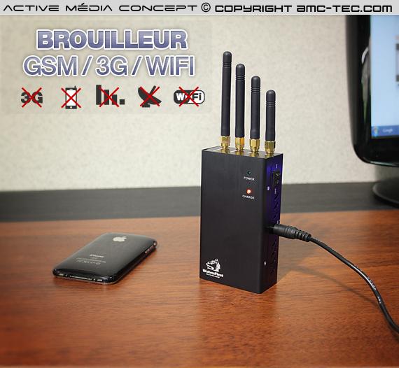 brv gsm 3g wifi brouilleur portable ventil wifi gsm et 3g de 2 watts autonome. Black Bedroom Furniture Sets. Home Design Ideas