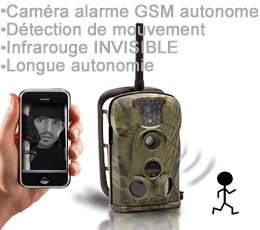 antenne lte - XTC-12M-GI - Caméra 12 Mégapixels alarme GSM avec envoi MMS & E-mail, longue autonomie & waterproof IR invisible