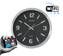 ip clock wifi horloge murale cam ra ip wifi infra rouge. Black Bedroom Furniture Sets. Home Design Ideas