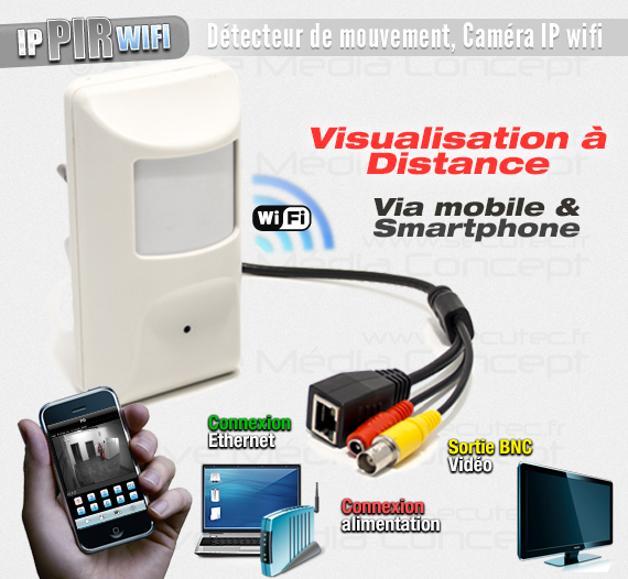 ip pir wifi cam ra ip wifi dans d tecteur de pr sence. Black Bedroom Furniture Sets. Home Design Ideas