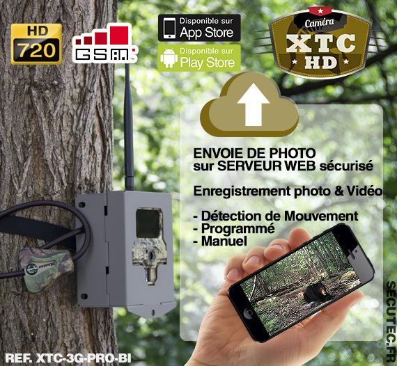 xtc 3g pro bi cam ra de chasse autonome 3g hd 720p 8mp avec ir invisible cryptage 256 bits et. Black Bedroom Furniture Sets. Home Design Ideas