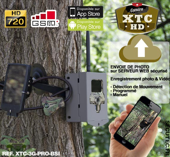 xtc 3g pro bsi cam ra de chasse autonome 3g hd 720p 8mp ir invisible cryptage 256 bits avec. Black Bedroom Furniture Sets. Home Design Ideas