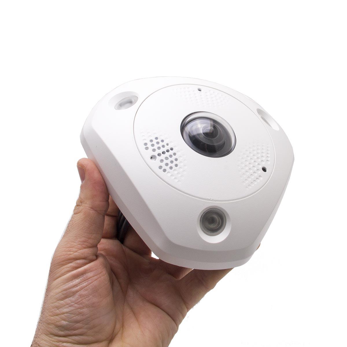 Ip 6mp 360e cam ra ip 6 m gapixels panoramique 360 for Surveillance exterieure avec enregistrement