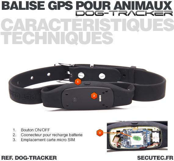 dog tracker collier traceur gps temps r el sans abonnement pour animaux. Black Bedroom Furniture Sets. Home Design Ideas