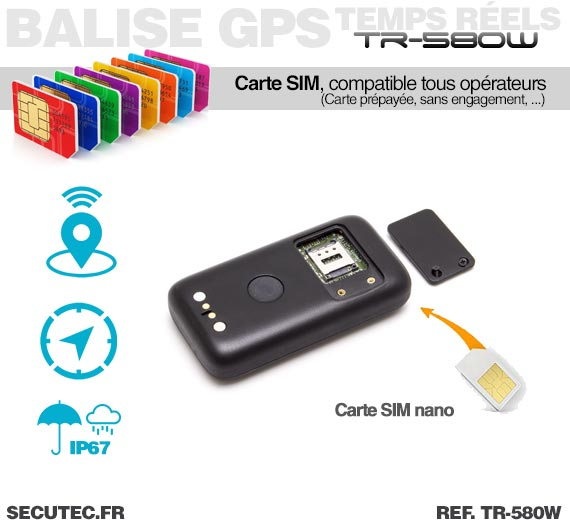tr 580w micro balise gps gsm wifi autonome waterproof sans abonnement. Black Bedroom Furniture Sets. Home Design Ideas